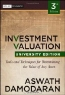 Aswath Damodaran. Investment Valuation: Tools and Techniques for Determining the Value of any Asset, University Edition (Wiley Finance Series)